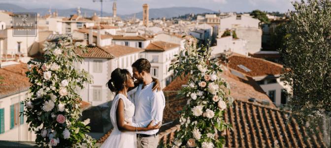 couple having destination wedding