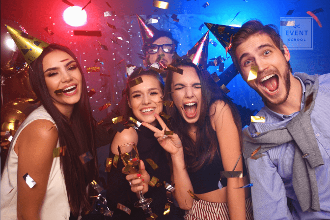 how to become a party planner - young adult celebrating at party
