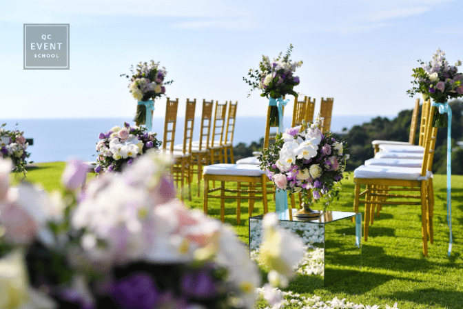 outdoor wedding reception setup for destination wedding
