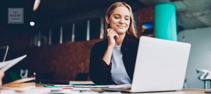 woman increasing event planner salary by getting online certification