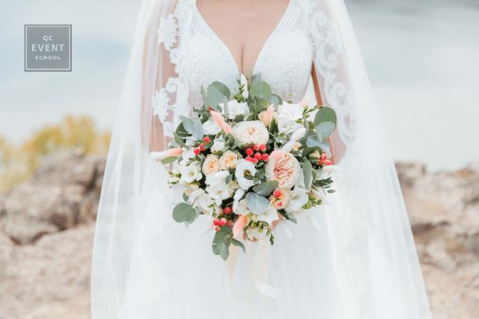wedding planning courses bride wearing white dress