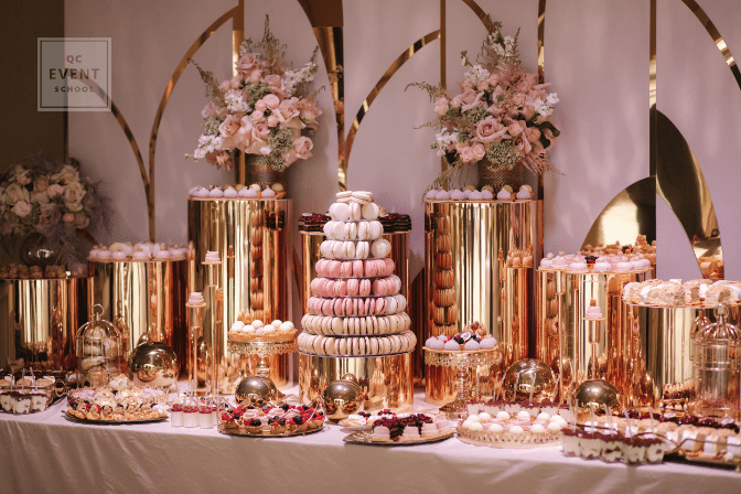 luxury wedding dessert table