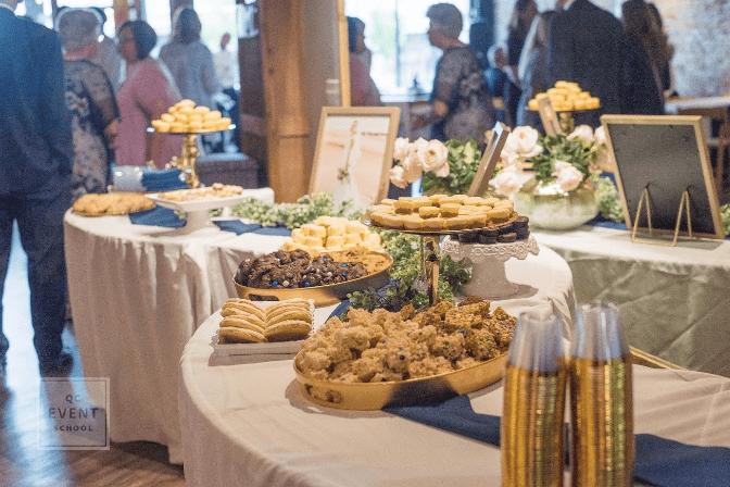 event reception food setup