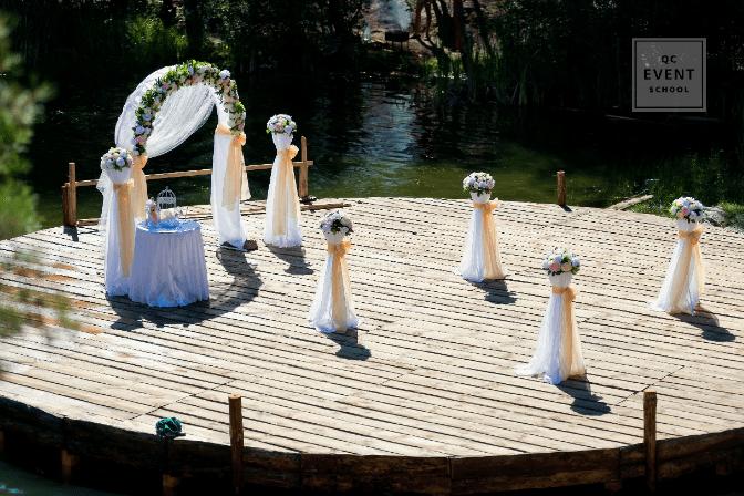 micro wedding ceremony venue setup