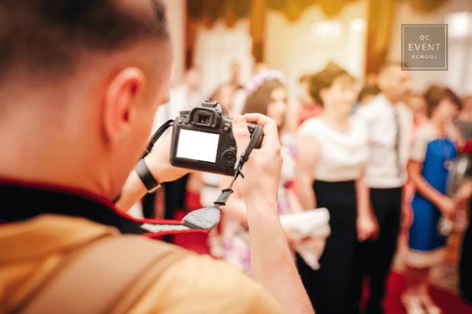 videographer filming hybrid wedding