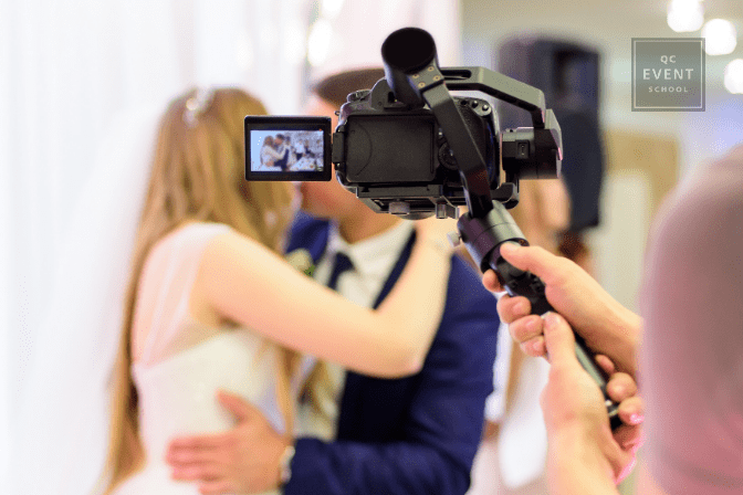 videographer livestreaming virtual wedding