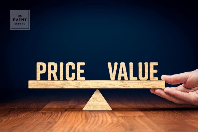 Price vs. Value marketing concept