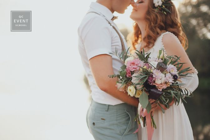 become an event planner article, June 16 2021, in-post image, bride and groom on wedding day