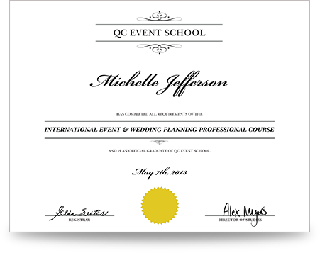 online diploma courses wedding planning