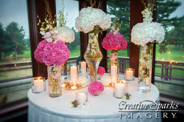 Event Planner Andrea DeLucia Flower Display