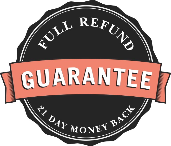 21-day money-back guarantee