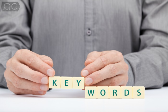 how to write a blog keywords