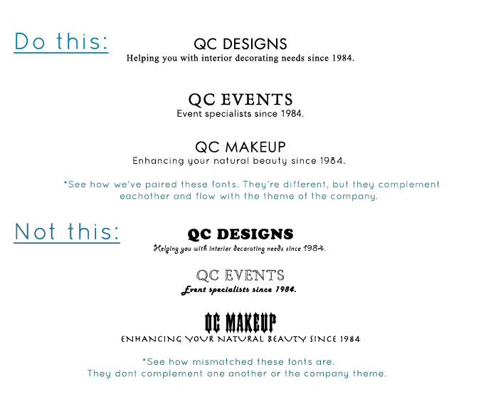 QC Career School Font Complementary Example of a Good Website Design