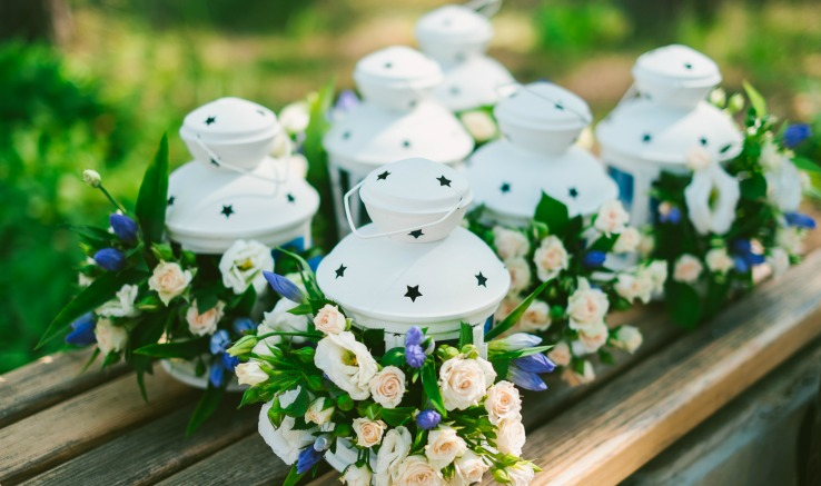 DIY Spring Lanterns for Wedding