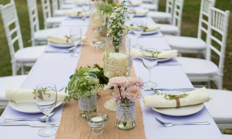 Rectangle Party Table Centerpiece Ideas