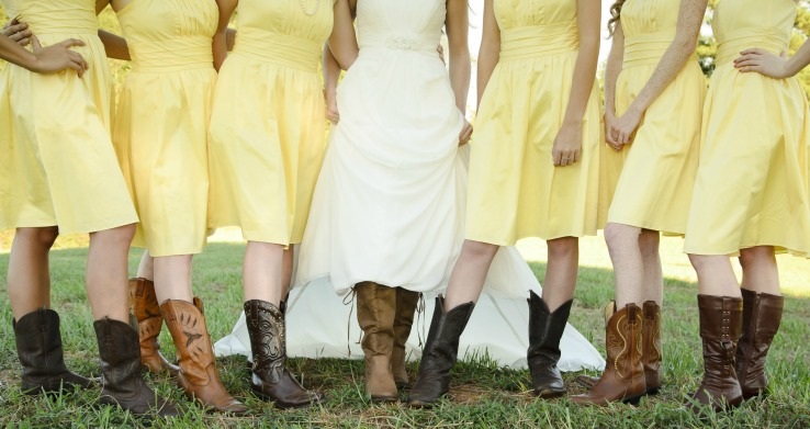 Planning a Bridal Party with Cowboy Boots