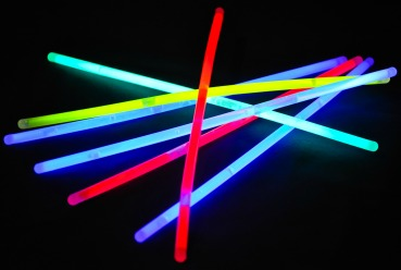 Glow sticks for DIY event decor