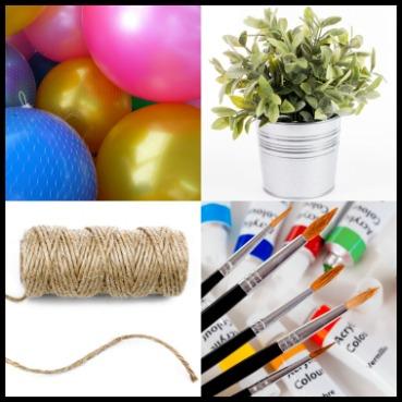 Materials for DIY event decor