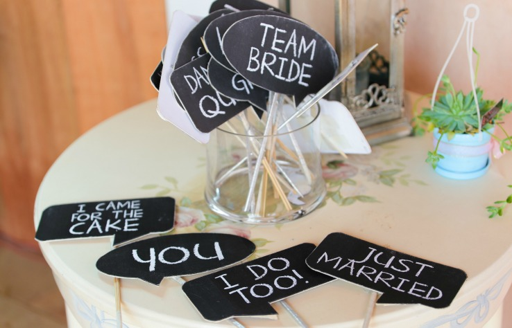 Speech bubbles DIY wedding ideas