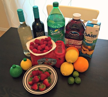 Summer Sangria Ingredients