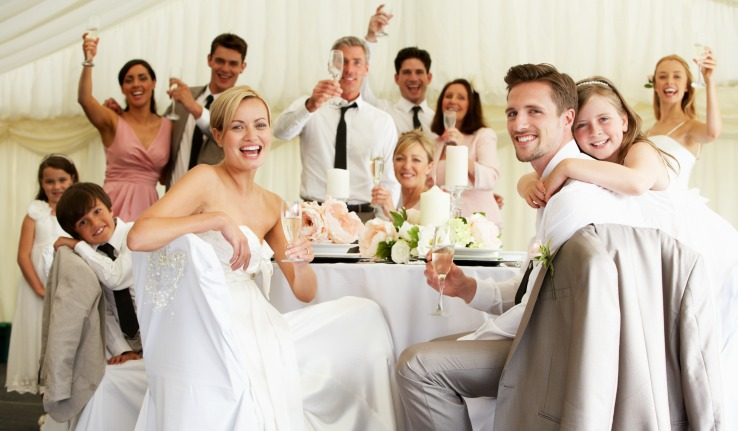 Wedding guests for booking a private venue