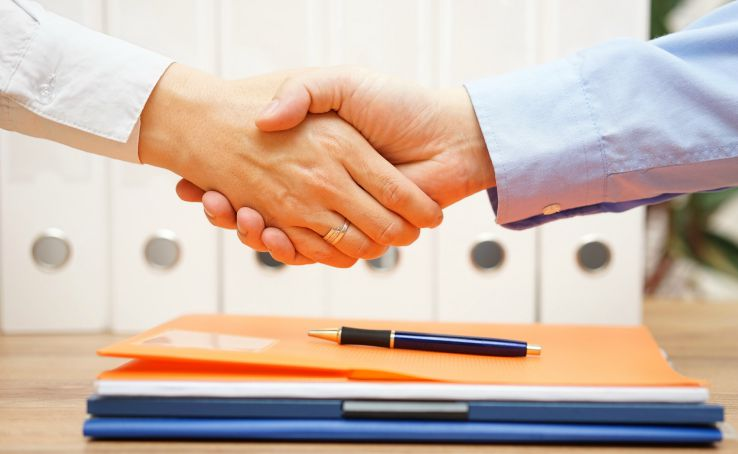 Career in event planning- signing contract with client
