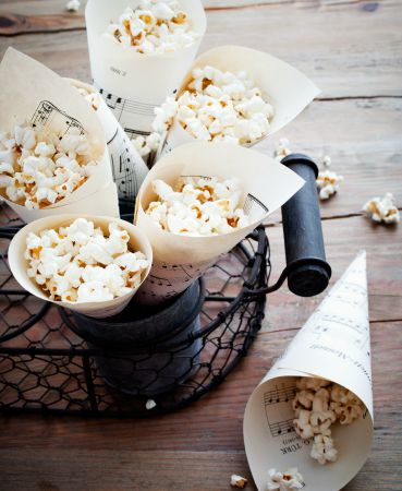 Popcorn for wedding food ideas