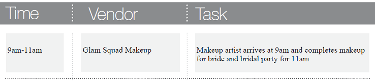 Wedding Day Timeline for Wedding Planners to Follow