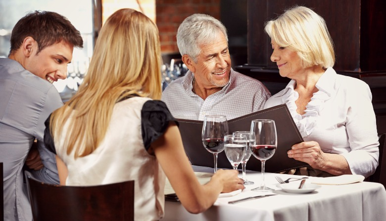 Last-minute dinner party at restaurant