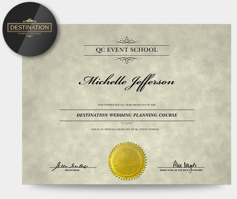 Online Luxury Wedding and Event Planning Specialization certificate