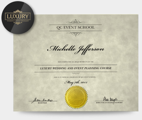 Luxury Wedding  Event Planning Specialization  Qc Event School