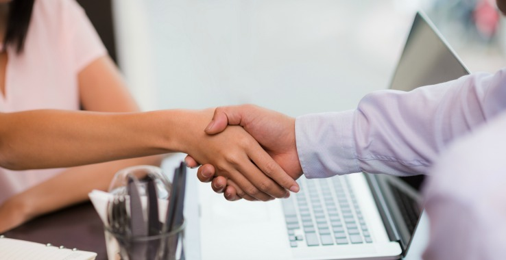 Event Blog First Client Conversation- How to be a party planner handshake