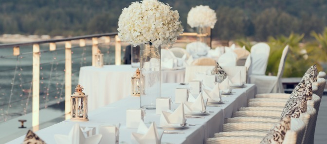 Wedding decor with romantic atmosphere