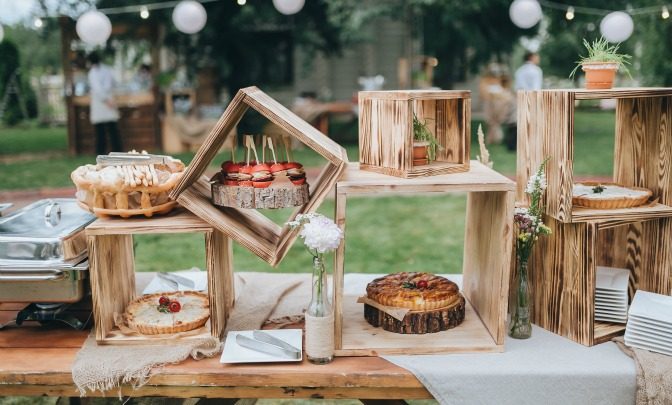 Trendy wedding deserts