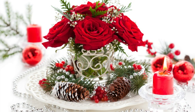 Winter centerpiece arrangement