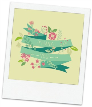 Thank You card with floral design.