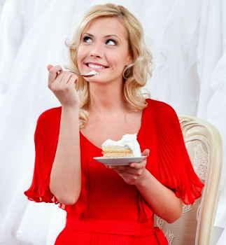 Wedding planner sampling cake