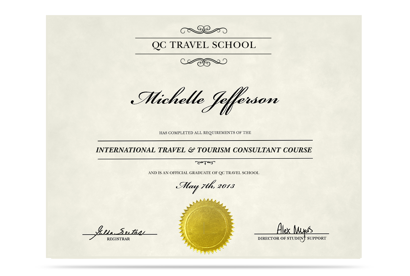 QC Travel School International Travel and Tourism Certification (ITTC™)