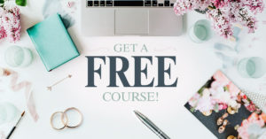 Free wedding course promotion