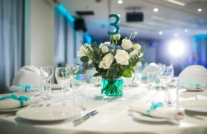 Event centerpiece and table planning
