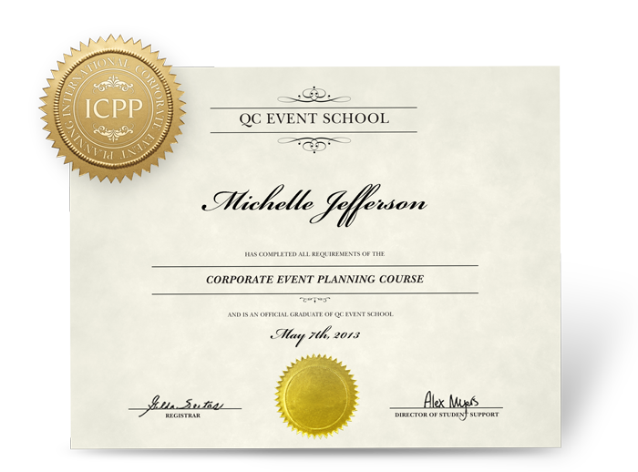 Corporate Event Planning Course - QC Event School