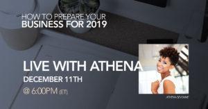 Live webinar with event & wedding planner Athena DeVonne