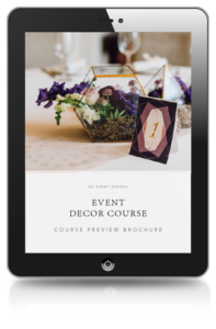 Event Decor Course Preview Brochure