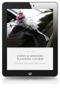 Event and Wedding Planning Course Preview Brochure
