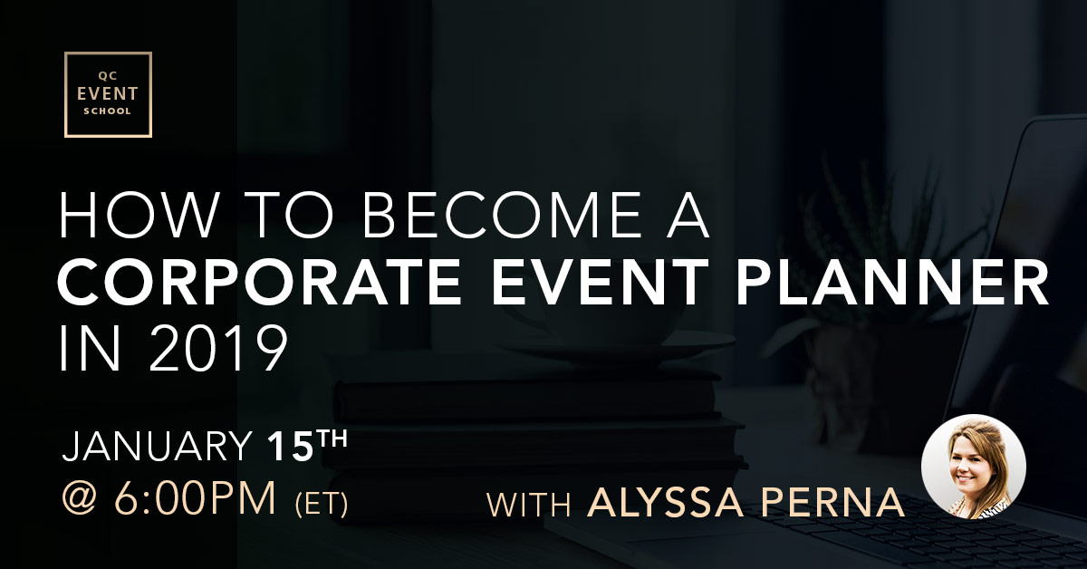 Webinar for becoming a corporate event planner