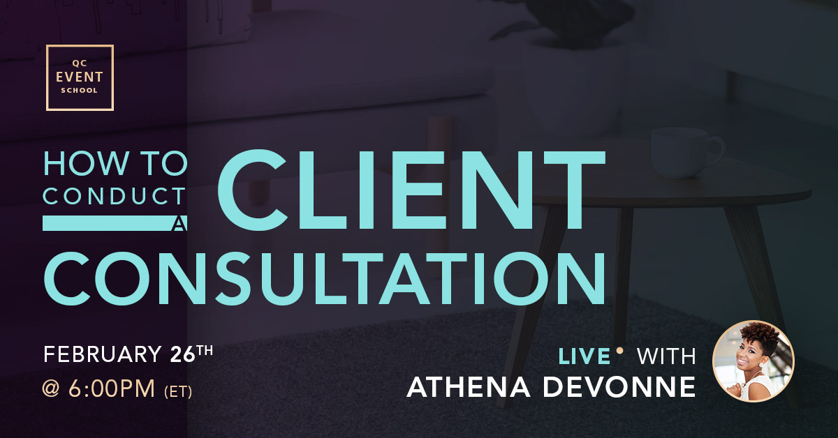 How to Conduct an Event Planning Client Consultation Live Event