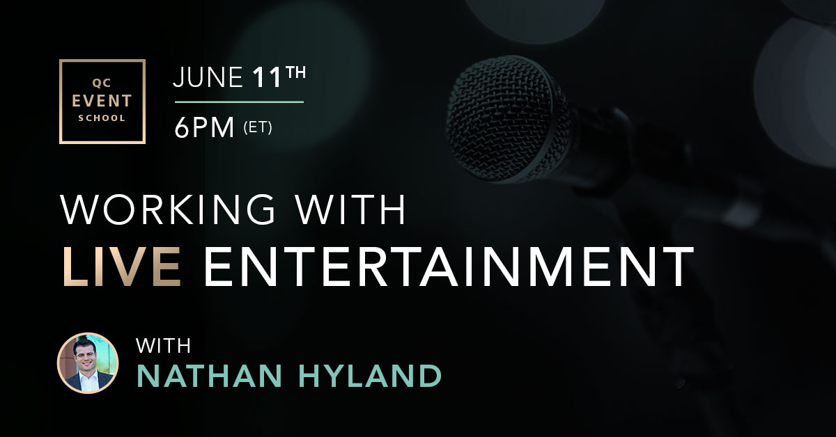 Webinar on working with live entertainment for events