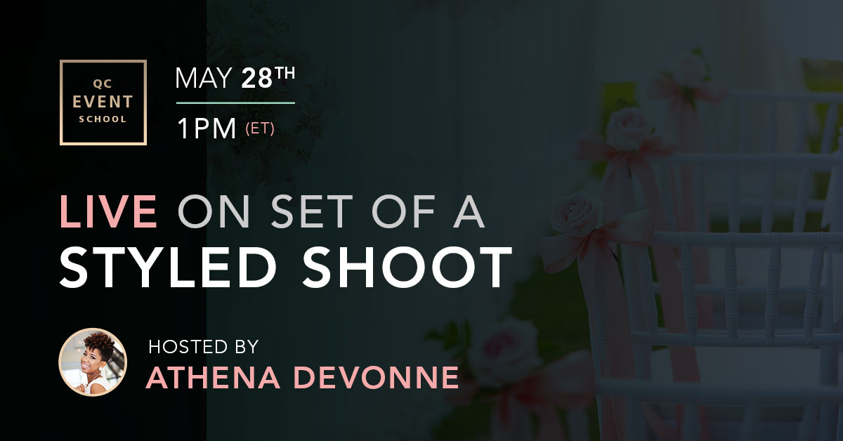 Live webinar for styled shoots
