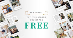Back to School offer for QC's online event planning courses