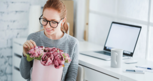becoming an event planner flowers and computer